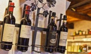 bottiglie di vino della cantina le logge